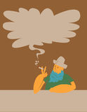 Smoking cowboy Stock Photography