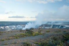 Smoking Crater of Halemaumau Kilauea Volcano Royalty Free Stock Photography