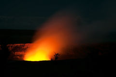 Smoking Crater of Halemaumau Kilauea Volcano Royalty Free Stock Image
