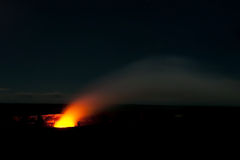 Smoking Crater of Halemaumau Kilauea Volcano Royalty Free Stock Images