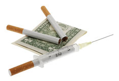Smoking damages health Stock Photography