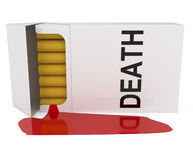 Smoking is Death. Isolated on white - 3d illustration Royalty Free Stock Photography