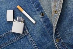 Smoking and Denim Stock Photography