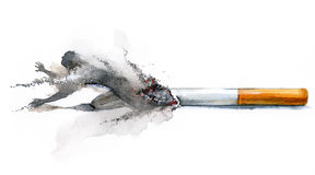 Smoking dependence Royalty Free Stock Photo