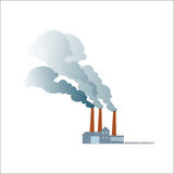 Smoking dirty polluting plant or factory Royalty Free Stock Images