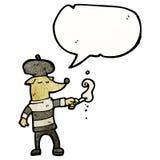 Smoking dog in beret Royalty Free Stock Images