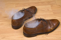 Smoking dress shoes Stock Photo