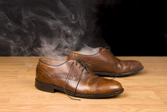 Smoking dress shoes Royalty Free Stock Images