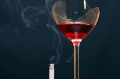 Smoking And Drinking Stock Image