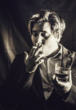 Smoking and drinking Stock Photography
