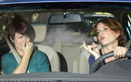 Smoking and Driving Stock Image