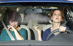 Smoking and Driving Royalty Free Stock Photo