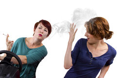 Smoking and Driving Royalty Free Stock Photos