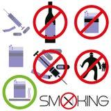 Smoking, drugs, bullies. Stock Photography