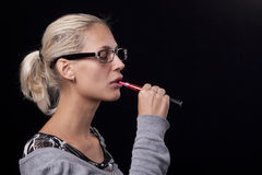 Smoking electric cigarettes Royalty Free Stock Photos