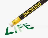 Smoking erases life Royalty Free Stock Image