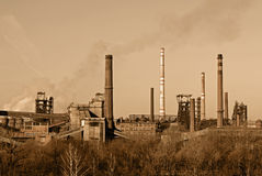 Smoking factory Royalty Free Stock Images