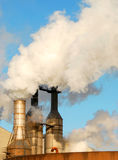 Smoking factory chimneys Royalty Free Stock Photo