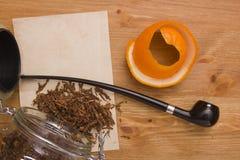 Smoking female tube Stock Photography