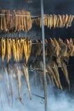 Smoking fish Royalty Free Stock Photos