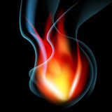 Smoking Flame Background Stock Photography
