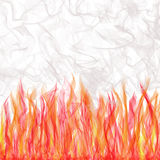 Smoking Flaming Veils. Background of veils in flames with rising,swirling smoke Royalty Free Stock Photography