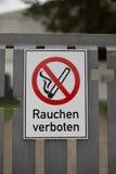 Smoking forbidden Stock Image