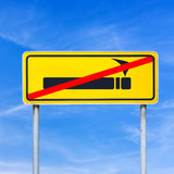 Smoking forbidden or prohibited on a yellow traffic sign Stock Image