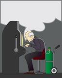 Smoking Gambler Stock Photo