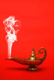 Smoking Genie Lamp Royalty Free Stock Photo