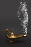 Smoking Genie Lamp Royalty Free Stock Photos