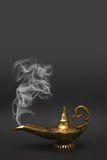 Smoking Genie Lamp Royalty Free Stock Image