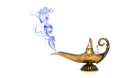 Smoking Genie Lamp Stock Photo
