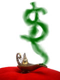 Smoking Genie Lamp Stock Images
