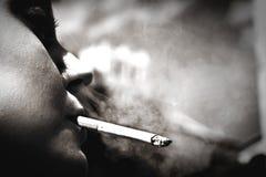Smoking girl Royalty Free Stock Image