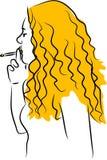 Smoking Girl Stock Photography