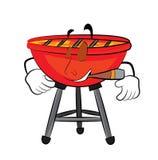Smoking grill cartoon Royalty Free Stock Photo