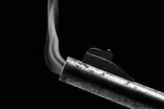Smoking gun. After the shot Stock Image