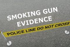 Smoking Gun Evidence concept Royalty Free Stock Photography