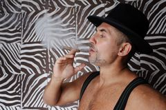 Smoking habit Royalty Free Stock Photo