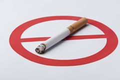 Smoking is harmful to health Stock Images