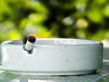 Smoking harms humans Stock Image