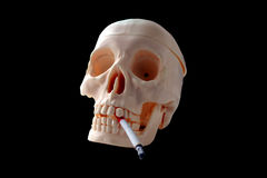 Smoking harms your health Stock Image