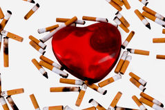 Smoking heart Stock Photo