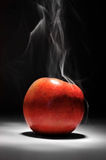 Smoking Hot Apple Royalty Free Stock Images
