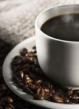 Smoking hot cup of coffee Stock Image