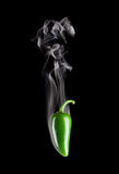 Smoking Hot Jalapeno Pepper (Capsicum Annuum) Stock Photography