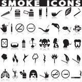 Smoking icon set. Stock Photos