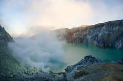 Smoking Ijen Crater Stock Images