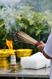 Smoking incenses Royalty Free Stock Photography